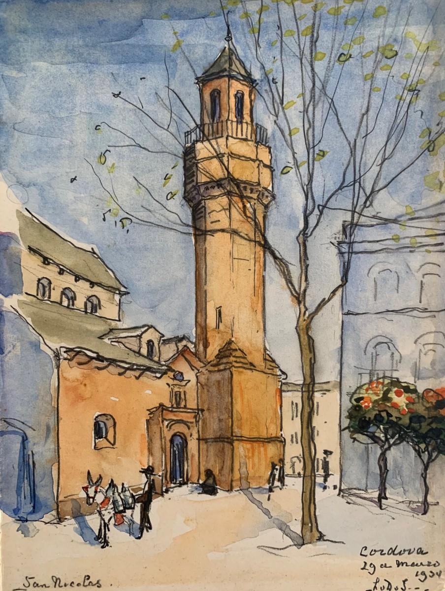 San Nicolas, Cordoba (1934) door Lucie van Dam van Isselt