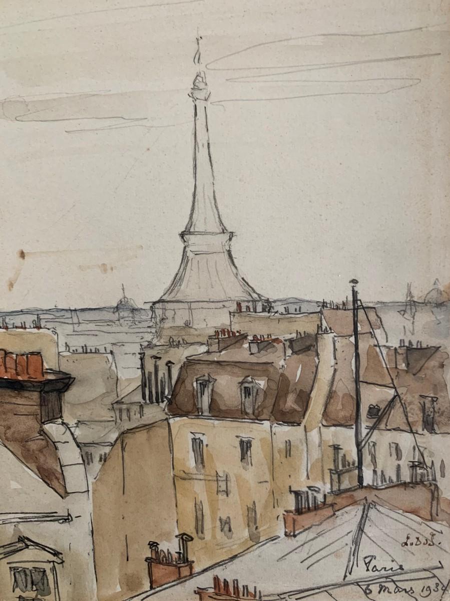 Paris (1934) door Lucie van Dam van Isselt