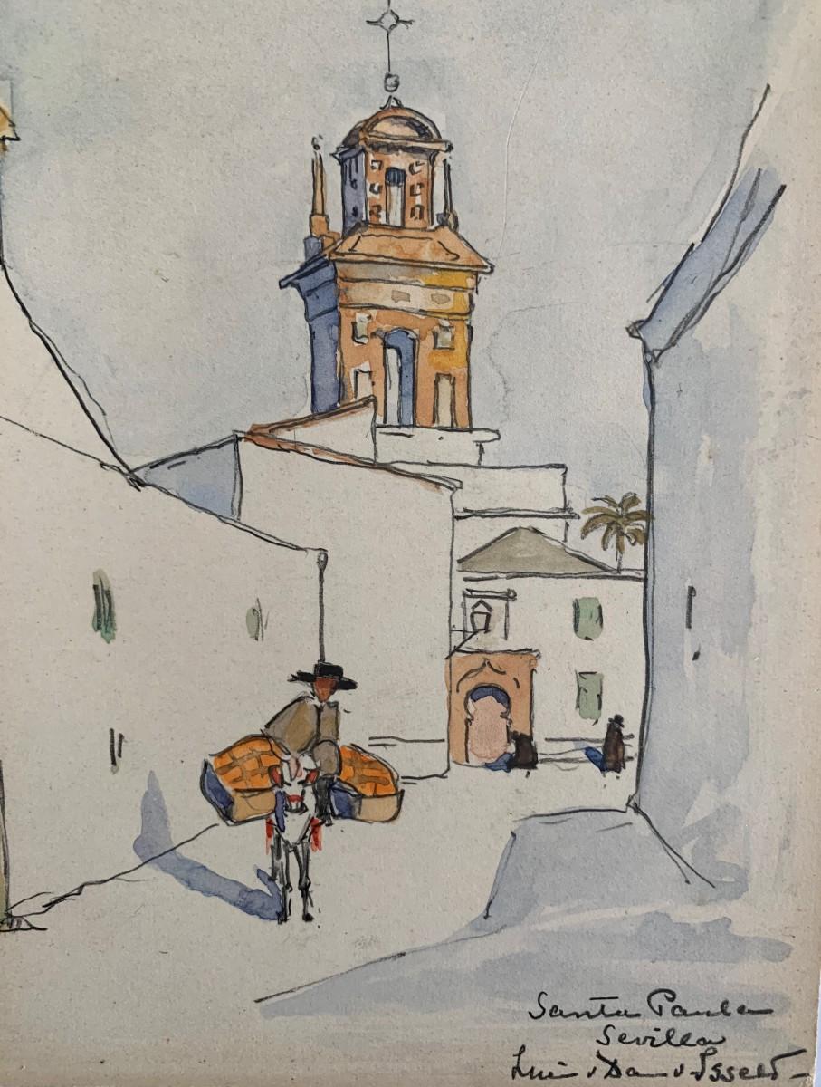 Sevilla, Santa Paula door Lucie van Dam van Isselt