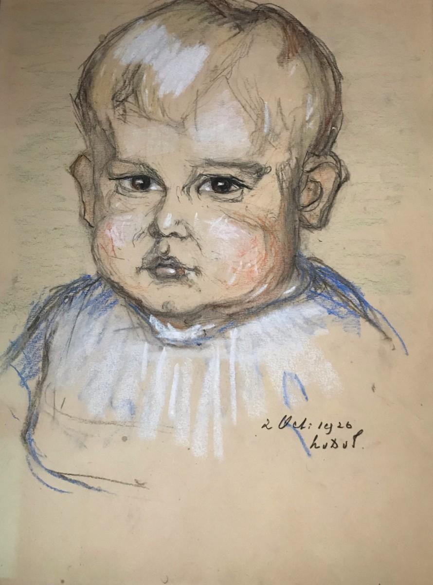 Portret Arnout Koch (1926) door Lucie van Dam van Isselt