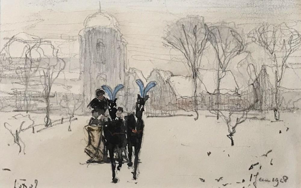 Paardenslee in Veere (1928) door Lucie van Dam van Isselt