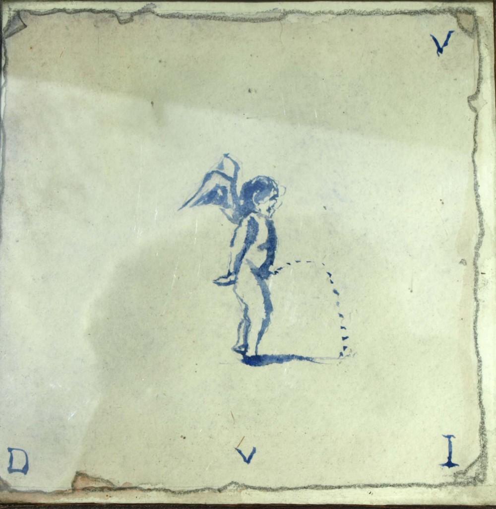 Plassend engeltje door Lucie van Dam van Isselt