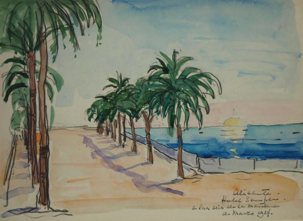 Alicante (1934) door Lucie van Dam van Isselt