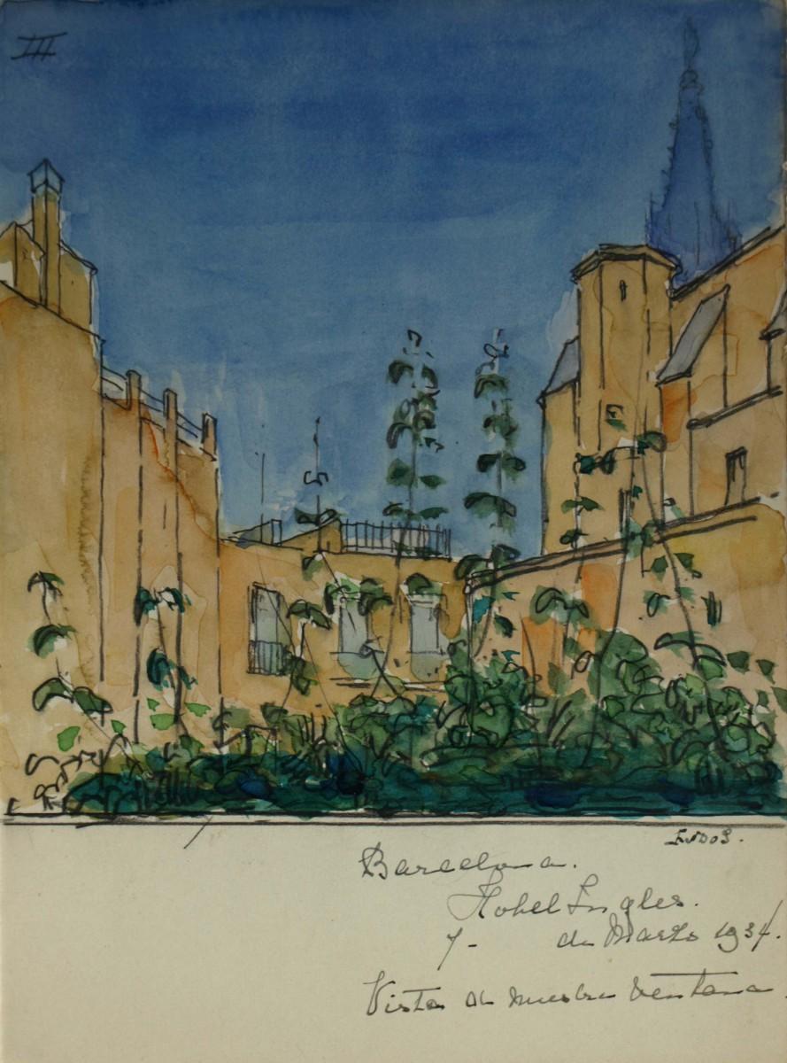 Barcelona (1934) door Lucie van Dam van Isselt
