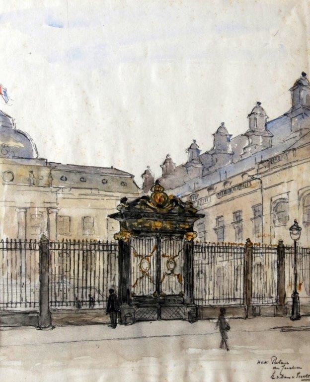 Hek Palais de Justice, Parijs (ca. 1935) door Lucie van Dam van Isselt