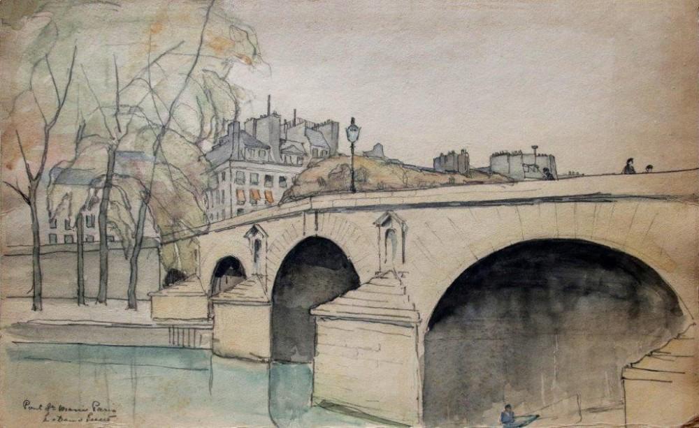 Pont St. Marie Paris door Lucie van Dam van Isselt