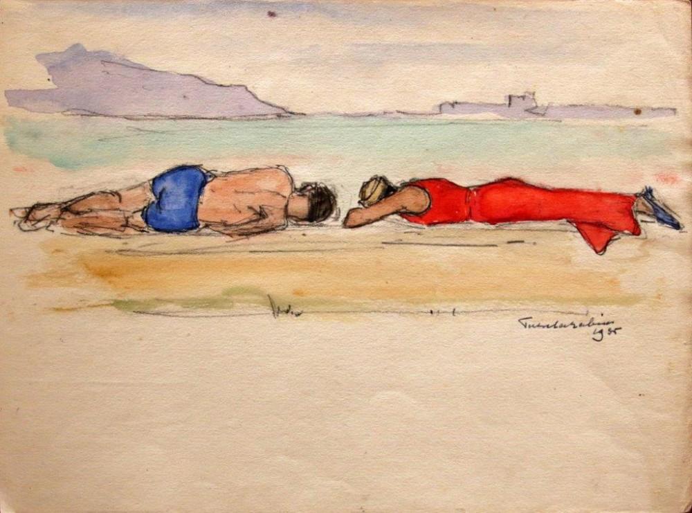 Fuenterrabia (1935) door Lucie van Dam van Isselt