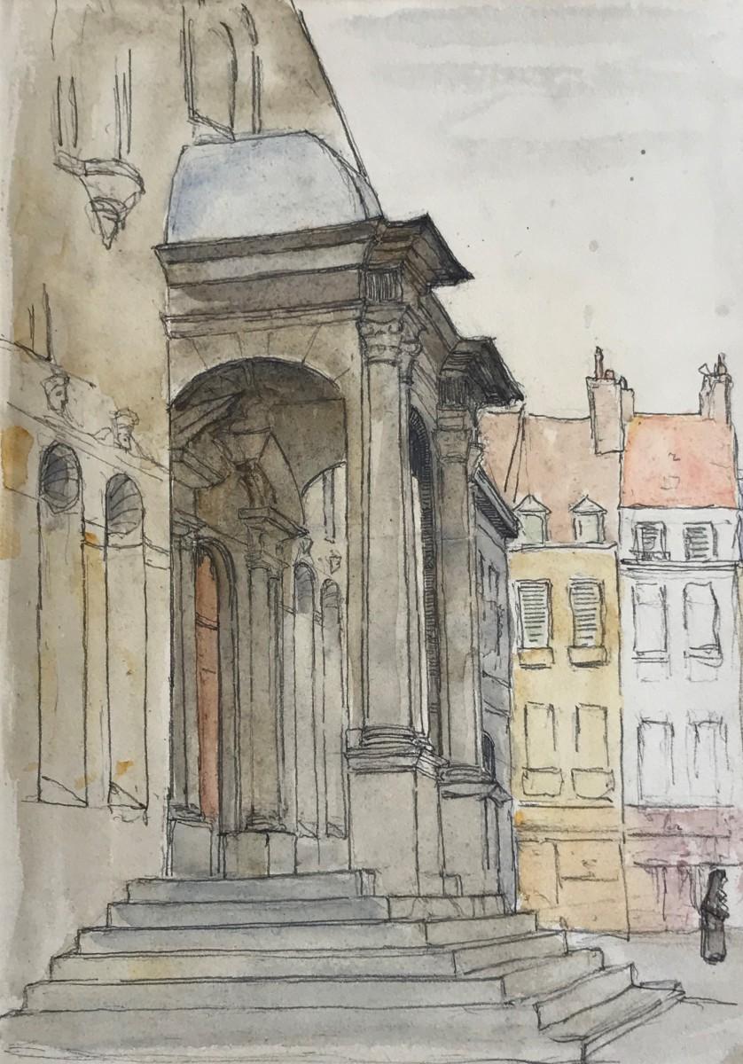 Bordes (ca. 1926) door Lucie van Dam van Isselt