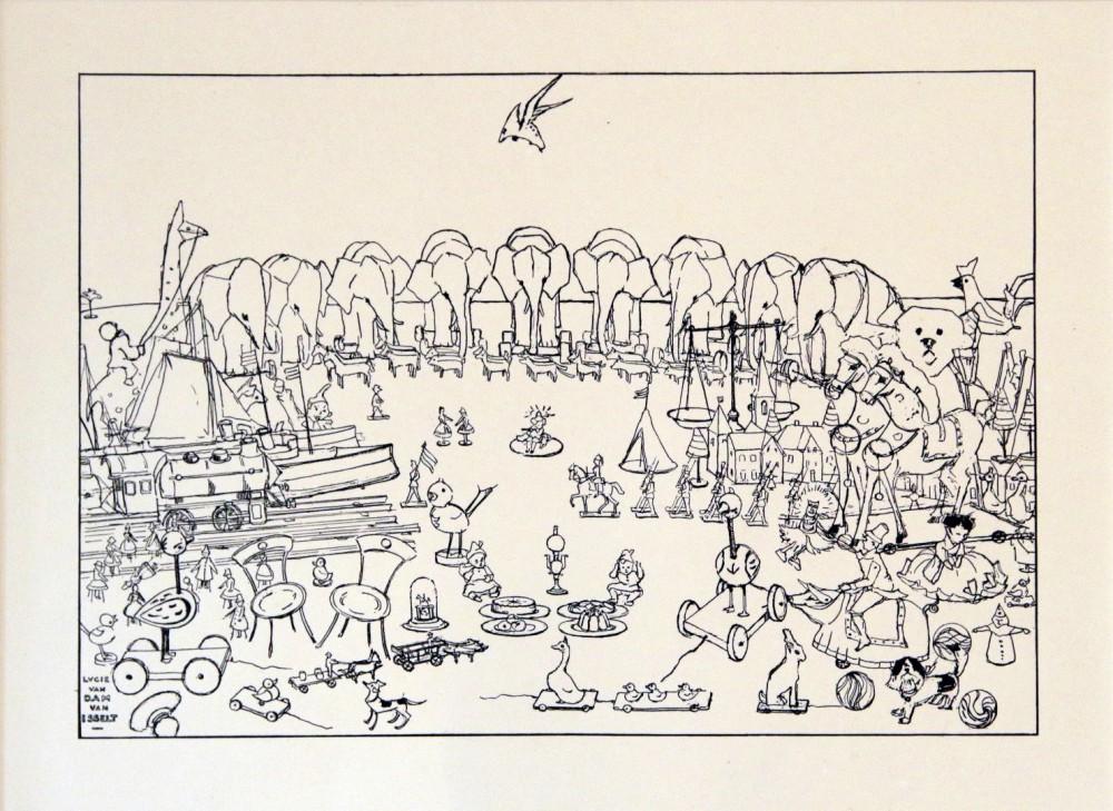 Speelgoedvolk (1921) door Lucie van Dam van Isselt