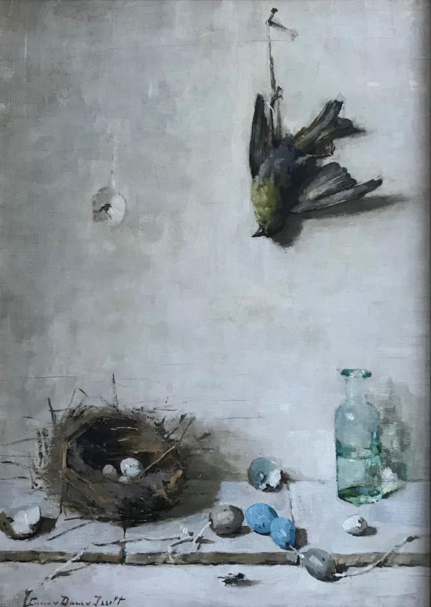 Dood vogeltje (ca. 1925) door Lucie van Dam van Isselt