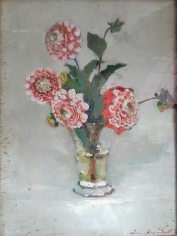 Pompon dahlia's (1921) door Lucie van Dam van Isselt