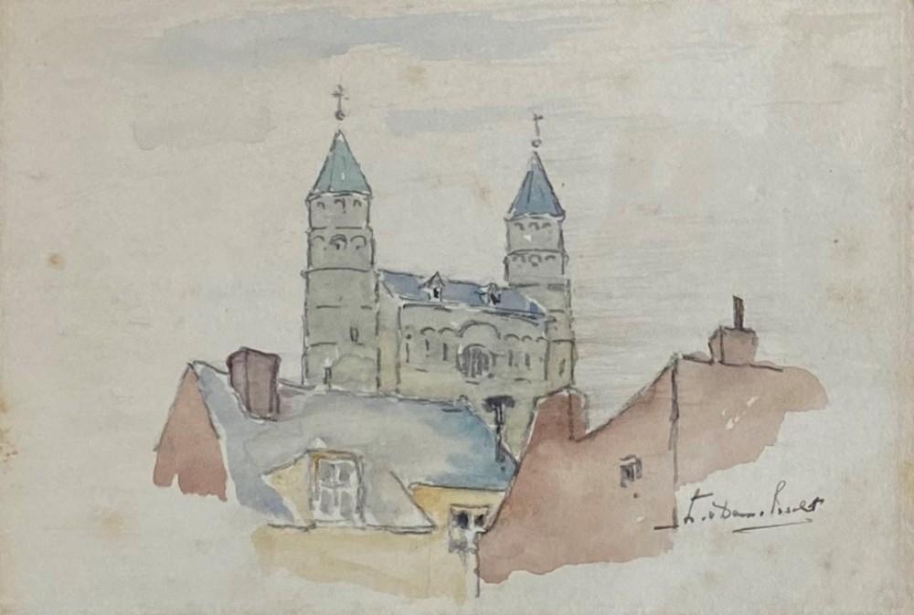 Onze Lieve Vrouwe Basiliek in Maastricht door Lucie van Dam van Isselt