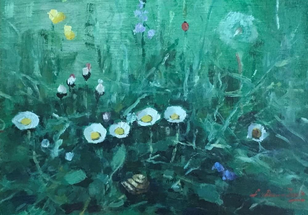 Weidebloemen door Lucie van Dam van Isselt