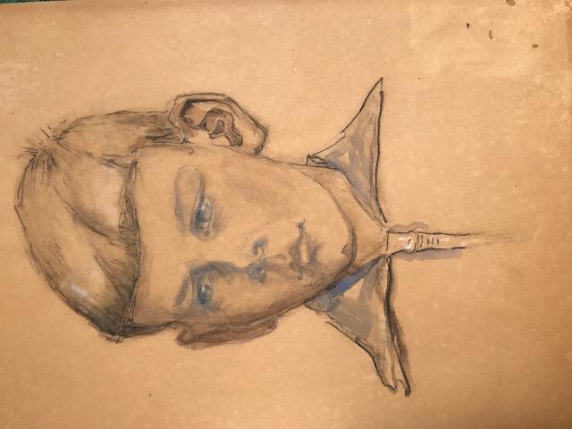 Portret Fokke Jan Repko (1931-1932) door Lucie van Dam van Isselt