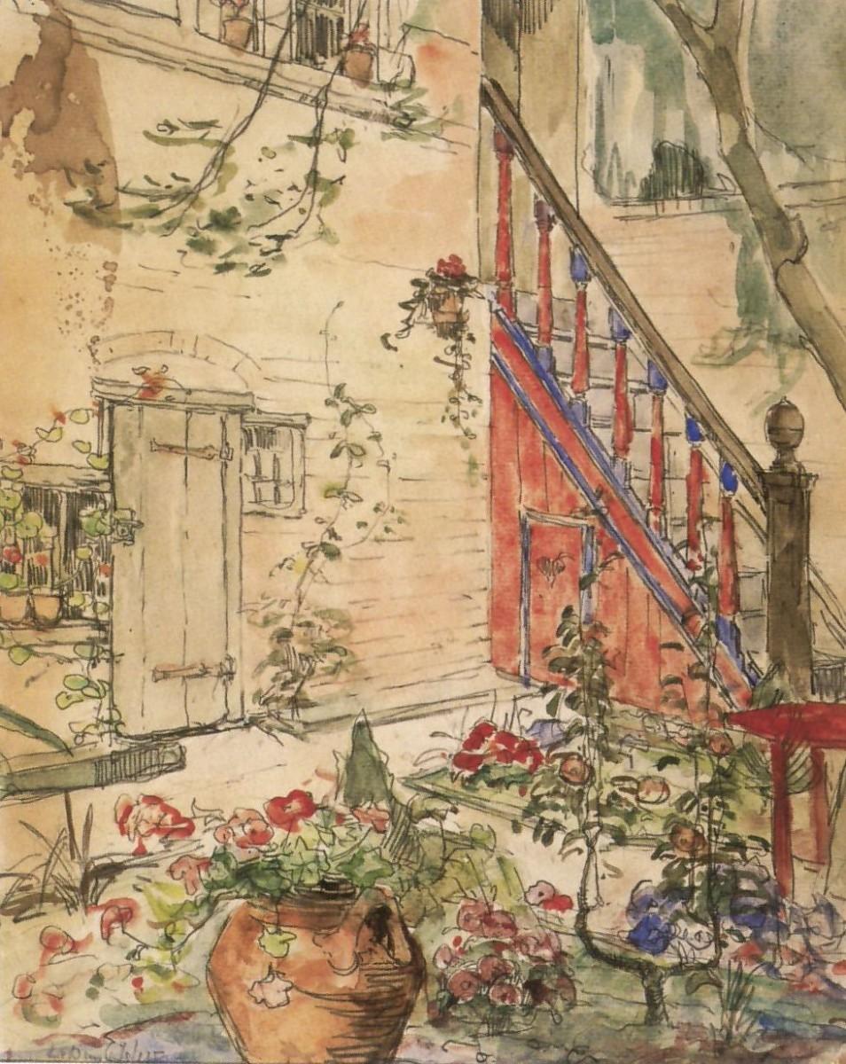 De tuin van de Schotse huizen door Lucie van Dam van Isselt