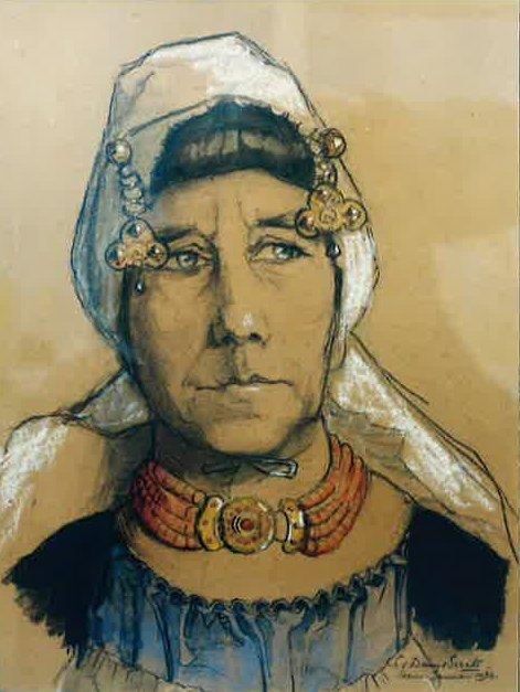 Portret Johanna Poppe (1933) door Lucie van Dam van Isselt