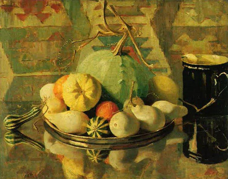 Sierpompoenen op tinnen schaal (1911-1912) door Lucie van Dam van Isselt
