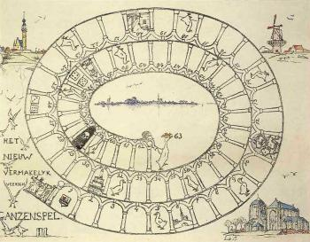 Het nieuw vermakelijk Veersch ganzenspel (ca. 1925) door Lucie van Dam van Isselt