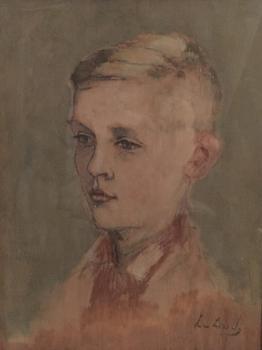 Portret van kleinzoon Wouter (1939) door Lucie van Dam van Isselt