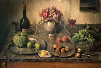 Stilleven met fruit (ca. 1912) door Lucie van Dam van Isselt