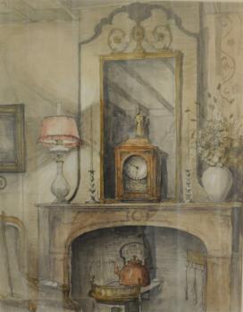 Interieur atelier (ca. 1921) door Lucie van Dam van Isselt