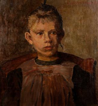 Portret HInke van de Hamme (1916-1917) door Lucie van Dam van Isselt
