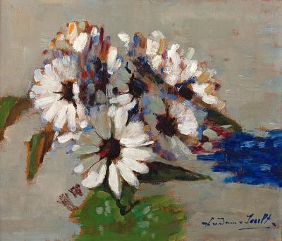 Spaanse margriet (ca. 1910) door Lucie van Dam van Isselt