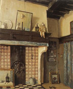 Interieur atelier (ca. 1935) door Lucie van Dam van Isselt