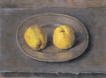 Appels op tinnen schaal (ca. 1936-1937) door Lucie van Dam van Isselt