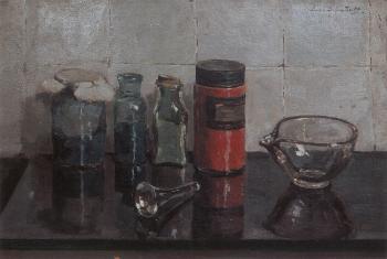 Verfpotjes (1925-1926) door Lucie van Dam van Isselt