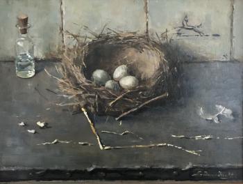 Vogelnestje (1945) door Lucie van Dam van Isselt