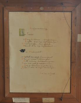 Achterzijde van De kikker en de spreeuw door Lucie van Dam van Isselt