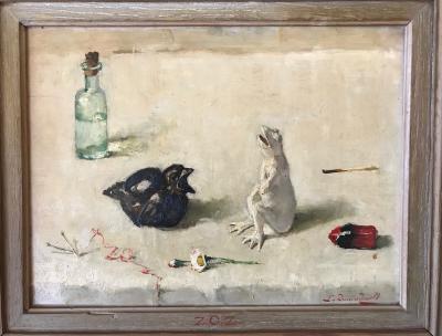 Lijst De kikker en de spreeuw door Lucie van Dam van Isselt