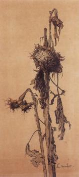 Zonnebloem (ca. 1910-1912) door Lucie van Dam van Isselt
