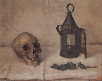 Doodskop (ca. 1925) door Lucie van Dam van Isslt