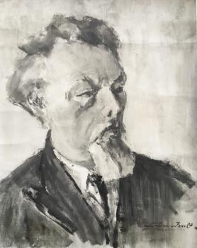 Portret van Koos Speenhoff (1942) door Lucie van Dam van Isselt