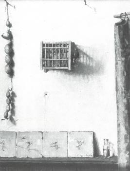 Het vogelkooitje (ca. 1928/1929) door Lucie van Dam van Isselt