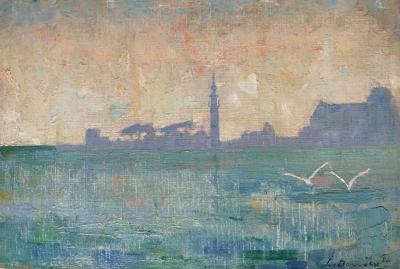 Gezicht op Veere (ca. 1912) door Lucie van Dam van Isselt