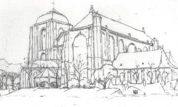 Grote kerk te Veere door Lucie van Dam van Isselt