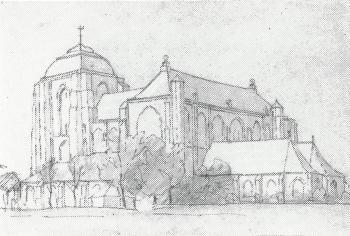 Grote kerk te Veere II door Lucie van Dam van Isselt