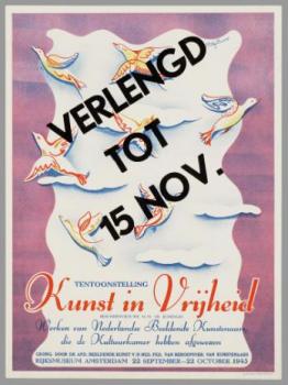 Affiche Kunst in Vrijheid Rijksmuseum 1945