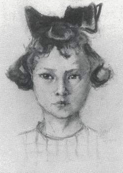 Portret Marina Smit (1924) door Lucie van Dam van Isselt