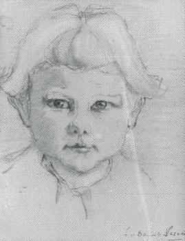 Portret Pieteko Venteville (1928) door Lucie van Dam van Isselt