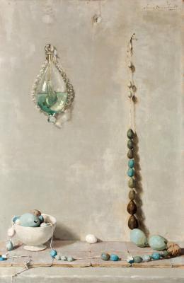 Eiersnoer met stormglas (1920) door Lucie van Dam van Isselt