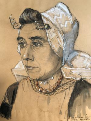 Portret Adriana Poppe (1932) door Lucie van Dam van Isselt