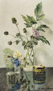 Stilleven met bloemen door Lucie van Dam van Isselt