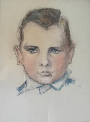 Portret van Cornelis Jacob van Zon (1943) door Lucie van Dam van Isselt