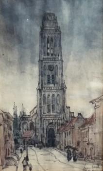 Toren van Zaltbommel door Lucie van Dam van Isselt