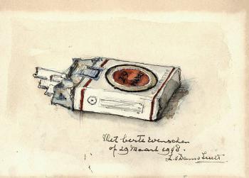 Pakje sigaretten (1948) door Lucie van Dam van Isselt