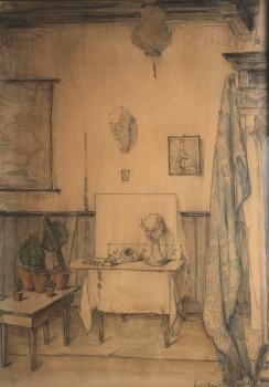 Atelier in Veere door Lucie van Dam van Isselt